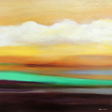 Plains Sunset by Mary Johnston (Oil Painting)