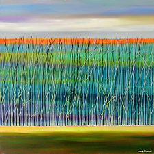 The Reeds Underwater by Mary Johnston (Oil Painting)