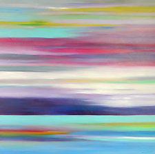 Colors Over Water by Mary Johnston (Oil Paintings)