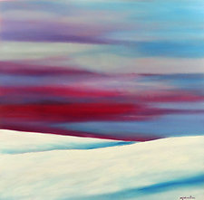 Hills in Winter by Mary Johnston (Oil Painting)