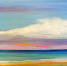 Clouds Over the Beach II by Mary Johnston (Oil Painting)