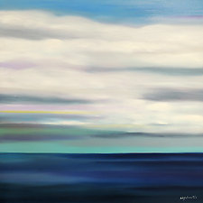 Clouds Over Dark Water by Mary Johnston (Oil Painting)