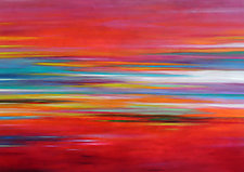 Striations 6 by Mary Johnston (Oil Painting)