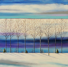 Winter by Mary Johnston (Oil Painting)