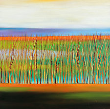 Reeds #3 by Mary Johnston (Oil Painting)