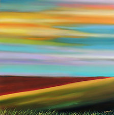 Prairie Day II by Mary Johnston (Oil Painting)