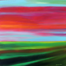 Red Sky Day by Mary Johnston (Oil Painting)
