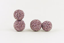 Color Pops Earrings in Heathered Orchid by Julie Long Gallegos (Beaded Earrings)