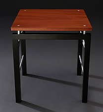 Floating Square by Carol Jackson (Wood Side Table)
