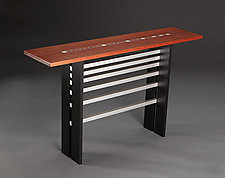 Fibonacci II by Carol Jackson (Wood Console Table)