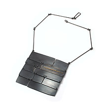 Slate Roof Necklace by Lauren Markley (Silver Necklace)