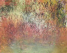 Nate's Land 6 by Jan Jahnke (Mixed-Media Painting)