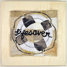 Lifesaver by Ayn Hanna (Fiber Wall Hanging)