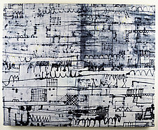 City Lines by Ayn Hanna (Fiber Wall Hanging)
