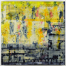 Big City 2 by Ayn Hanna (Fiber Wall Hanging)
