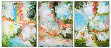 Dragonflies Hovering Triptych by Janice Sugg (Oil Painting)