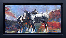 High Mountain Draft Horses by Janice Sugg (Oil Painting)