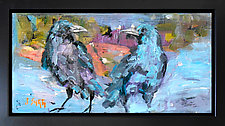 Black Crows at Sunset by Janice Sugg (Oil Painting)