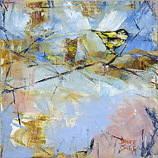 Yellow Songbird by Janice Sugg (Oil Painting)