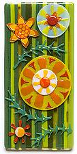 Fairy Forest II by Mary Johannessen (Art Glass Wall Sculpture)