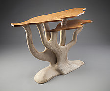 The Confluence Table by Aaron Laux (Wood Console Table)