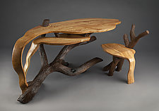Part of the Landscape Desk by Aaron Laux (Wood Desk)