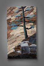 Mosaic Study I by Aaron Laux (Art Glass & Wood Wall Sculpture)