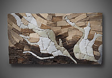 Mosaic Study II by Aaron Laux (Art Glass & Wood Wall Sculpture)