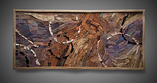 Traces In Stone II by Aaron Laux (Wood Wall Sculpture)