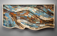 Looking into the Deep by Aaron Laux (Wood Wall Sculpture)