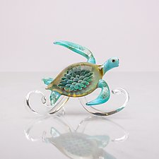 Turtle Wave by Bryan Randa (Art Glass Sculpture)