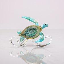 Turtle Wave by Bryan Randa (Art Glass Sculpture)