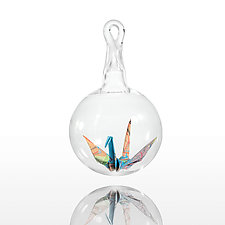 World Peace Crane by Adam Parsley (Art Glass Ornament)