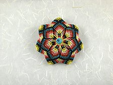 Kaleidoscope No. 72 by Joh Ricci (Fiber Brooch)
