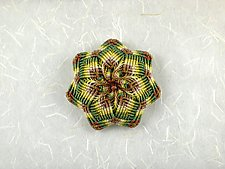 Kaleidoscope No. 65 by Joh Ricci (Fiber Brooch)