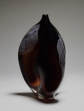 Amber Kernel by James Friedberg (Art Glass Vase)