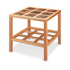 Carré Side Table by Robert Krantz (Wood Side Table)