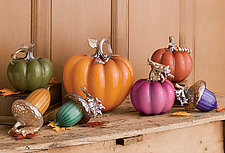 Cinderella Pumpkins by Treg  Silkwood (Art Glass Sculpture)