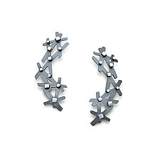 Stick and Stone Earrings by Joanna Nealey (Silver Earrings)