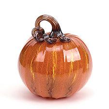 XL Crackle Pumpkins by Leonoff Art Glass  (Art Glass Sculpture)
