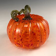Harvest Pumpkin by Leonoff Art Glass (Art Glass Sculpture)
