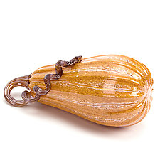 Crackle Butternut Squash by Leonoff Art Glass  (Art Glass Sculpture)