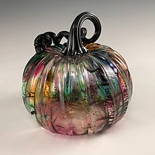 Surreal Pumpkin by Leonoff Art Glass  (Art Glass Sculpture)