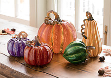 Harvest Pumpkins by Leonoff Art Glass  (Art Glass Sculpture)