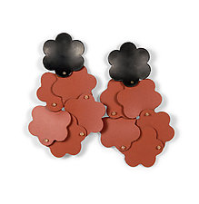Flower Cluster Earrrings by Maia Leppo (Steel & Silicone Earrings)