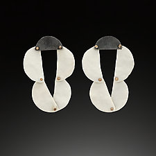 Ceramic Dangles by Maia Leppo (Steel & Ceramic Earrings)