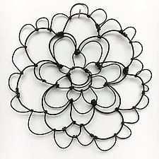 Wire Bloomer 3 by Barbara Gilhooly (Metal Wall Sculpture)