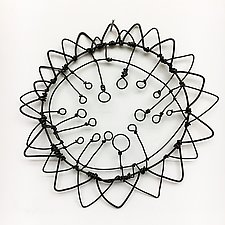 Wire Bloomer 9 by Barbara Gilhooly (Metal Wall Sculpture)