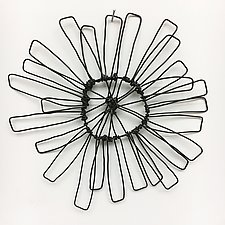 Wire Bloomer 6 by Barbara Gilhooly (Metal Wall Sculpture)