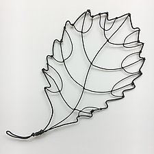 Wire Foliage III by Barbara Gilhooly (Metal Wall Sculpture)